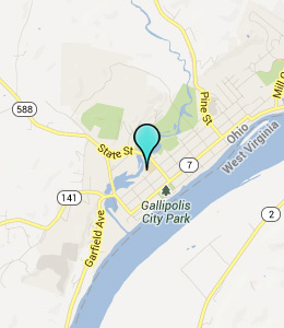 Map of Gallipolis, OH hotels