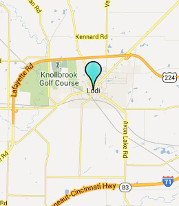 Map of Lodi, OH hotels