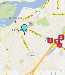 Map of Perrysburg, IN hotels
