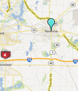Map of Ravenna, OH hotels