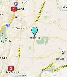 Map of The Village of Indian Hill, OH hotels