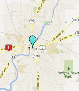 Map of Tiffin, OH hotels