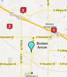 Map of Broken Arrow, IN hotels