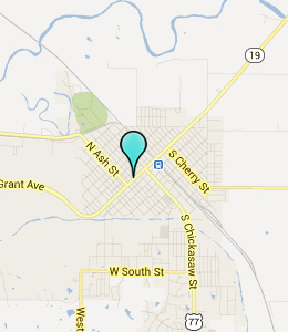 Map of Pauls Valley, OK hotels