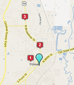 Map of Poteau, OK hotels