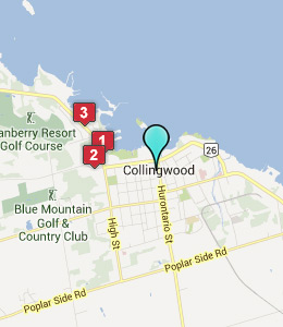 Map of Collingwood, ON hotels