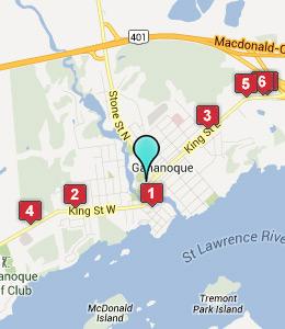Map Of Gananoque Ontario