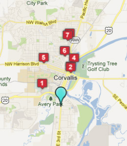 Map of Corvallis, OR hotels