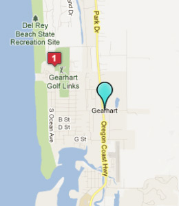 Map of Gearhart, OR hotels