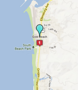 Map of Gold Beach, OR hotels