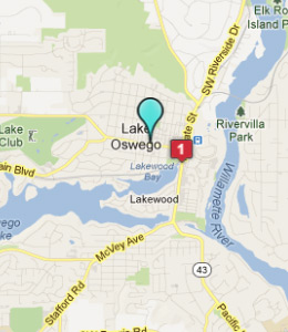 Map of Lake Oswego, OR hotels