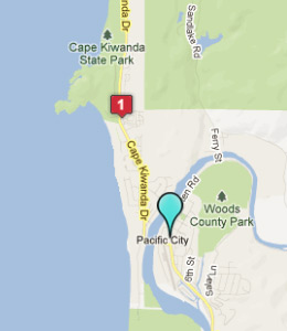 Map of Pacific City, OR hotels