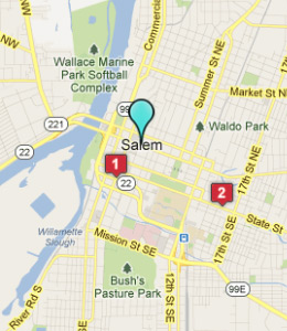 Map of Salem, OR hotels