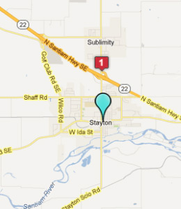 Map of Stayton, OR hotels