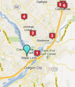 Map of West Linn, OR hotels