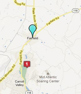 Map of Fairfield, PA hotels