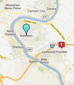 Map of Monessen, PA hotels