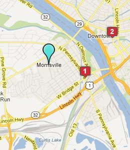 Map of Morrisville, PA hotels