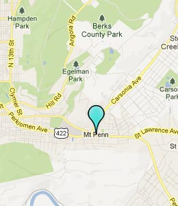 Map of Mount Penn, PA hotels