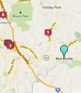 Map of Murrysville, PA hotels