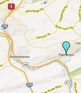 Map of Palmerton, PA hotels