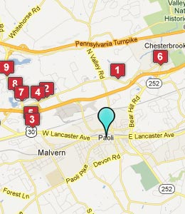 Map of Paoli, PA hotels