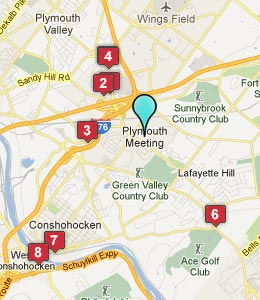 Map of Plymouth Meeting, PA hotels