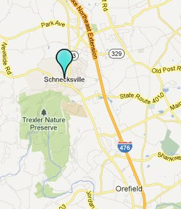 Map of Schnecksville, PA hotels