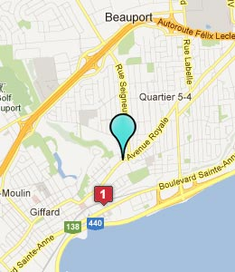 Map of Beauport, QC hotels