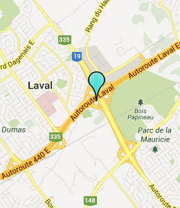 Map of Laval, IN hotels