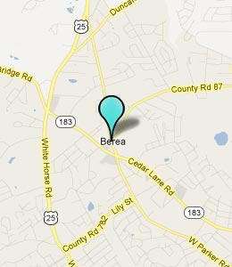 Map of Berea, SC hotels