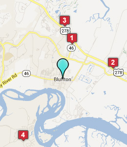 Map of Bluffton, IN hotels