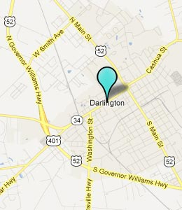 Map of Darlington, SC hotels
