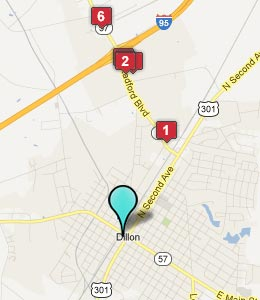 Map of Dillon, SC hotels