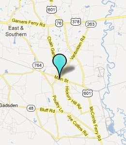 Map of Eastover, SC hotels