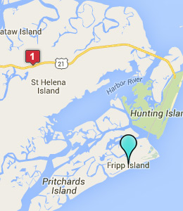 Map of Fripp Island, SC hotels