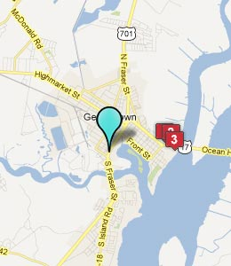 Map of Georgetown, SC hotels