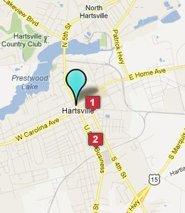 Map of Hartsville, SC hotels