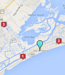 Map of Isle of Palms, SC hotels