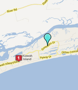Map of Kiawah Island, IN hotels