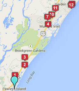 Map of Pawleys Island, SC hotels