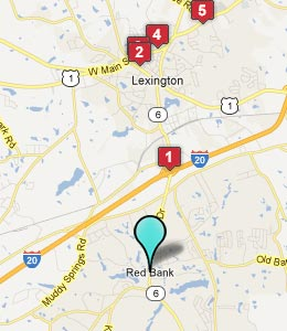 Map of Red Bank, SC hotels