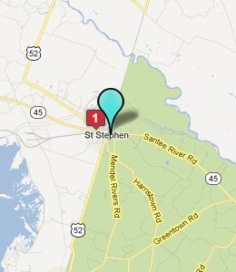 Map of St Stephen, SC hotels