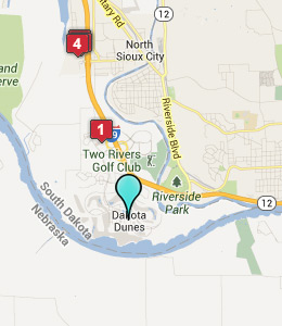 Map of Dakota Dunes, SD hotels