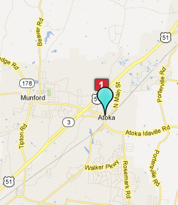 Map of Atoka, TN hotels