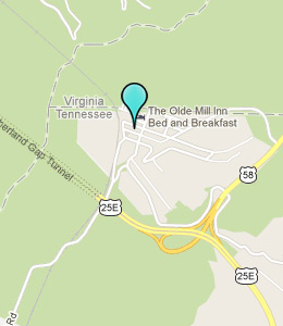 Map of Cumberland Gap, TN hotels