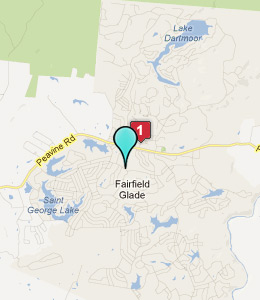 Map of Fairfield Glade, TN hotels