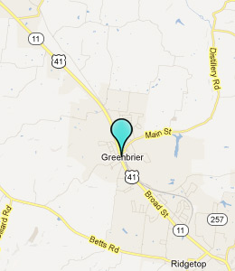 Map of Greenbrier, TN hotels