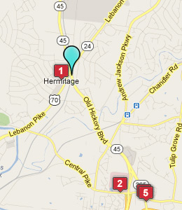 Map of Hermitage, TN hotels