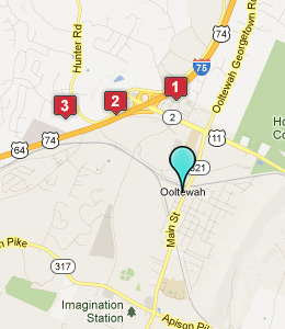 Map of Ooltewah, TN hotels